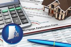 Rhode Island - a mortgage application form