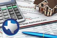 Texas - a mortgage application form
