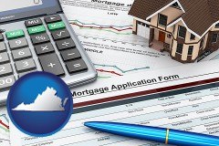 Virginia - a mortgage application form