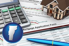 Vermont - a mortgage application form