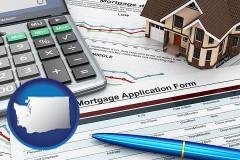 Washington - a mortgage application form