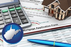 West Virginia - a mortgage application form