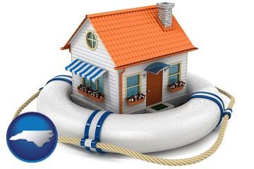 property insurance with North Carolina map icon