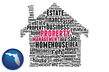 property management concepts with Florida map icon
