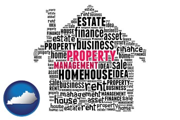 property management concepts with Kentucky map icon