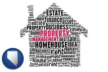 property management concepts with Nevada map icon