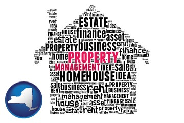 property management concepts with New York map icon