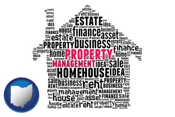 property management concepts with Ohio map icon