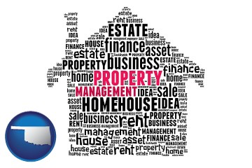property management concepts with Oklahoma map icon