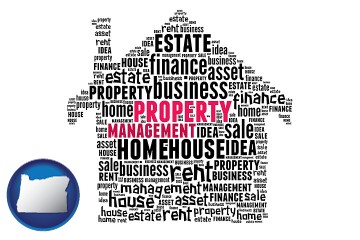 property management concepts with Oregon map icon