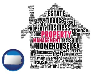 property management concepts with Pennsylvania map icon
