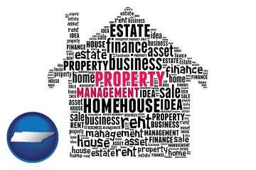 property management concepts with Tennessee map icon