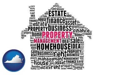 property management concepts with Virginia map icon