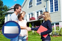 Kansas - a real estate agent