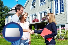 North Dakota - a real estate agent