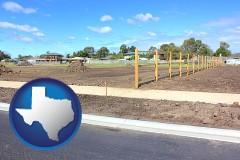 Texas - real estate subdivisions