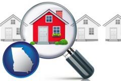 Georgia - a house viewed through a magnifying glass