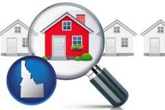 Idaho - a house viewed through a magnifying glass