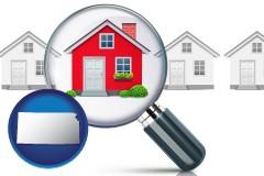 Kansas - a house viewed through a magnifying glass