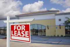 retail space for lease in a strip mall
