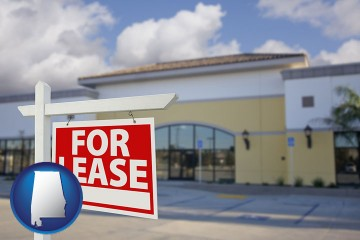 commercial real estate for lease with Alabama map icon