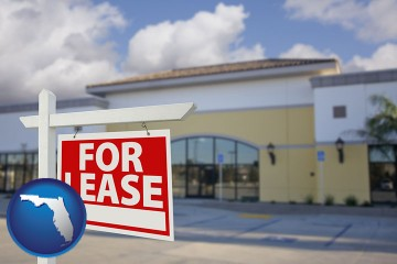 commercial real estate for lease with Florida map icon