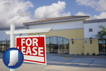 commercial real estate for lease with Indiana map icon