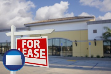 commercial real estate for lease with North Dakota map icon
