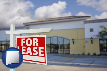 commercial real estate for lease with New Mexico map icon