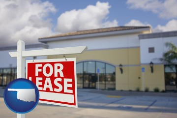 commercial real estate for lease with Oklahoma map icon