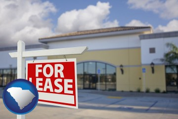 commercial real estate for lease with South Carolina map icon