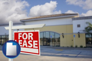 commercial real estate for lease with Utah map icon