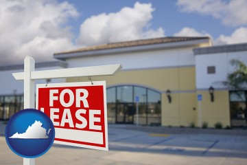 commercial real estate for lease with Virginia map icon