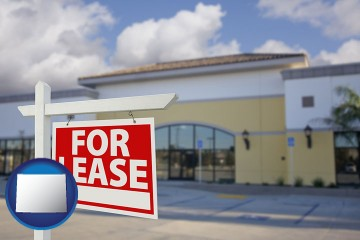 commercial real estate for lease with Wyoming map icon