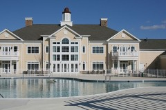 retirement community center and outdoor swimming pool