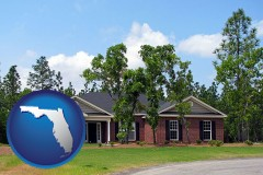 Florida a single story retirement home