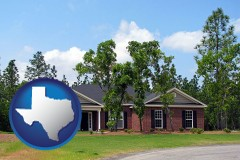 Texas a single story retirement home