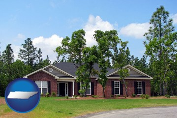 a single story retirement home with Tennessee map icon
