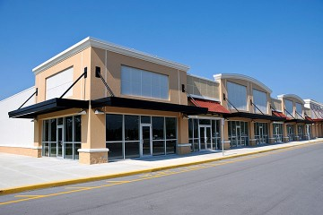 a shopping mall development