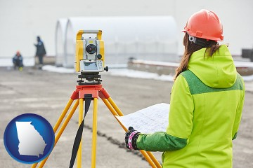 surveying services with Georgia map icon