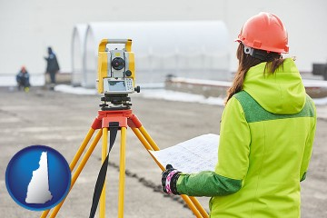 surveying services with New Hampshire map icon