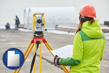 surveying services with Utah map icon